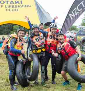 Big Bang Adventure Race Happy people posing for the photo with their racing gear